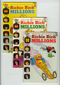 Richie Rich Millions File Copy Short Box Group (Harvey, 1970-82) Condition: Average NM-