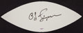 Football Collectibles:Balls, O.J. Simpson Signed White Panel....
