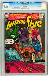 The Inferior Five #1 Twin Cities pedigree (DC, 1967) CGC NM+ 9.6 White pages