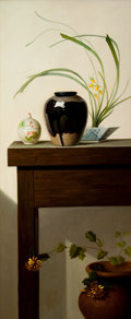 Post-War & Contemporary:Contemporary, HU PENGFEI (Chinese, 20th Century). Flower Series No. 1,2006. Oil on canvas. 49 x 19-5/8 inches (124.5 x 49.8 cm). Sign...