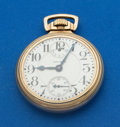 Timepieces:Pocket (post 1900), Waltham 21 Jewel Crescent Street With Wind Indicator Pocket Watch....