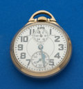 Timepieces:Pocket (post 1900), Elgin 23 Jewel B.W. Raymond Wind With Up/Down Wind Indicator Pocket Watch. ...