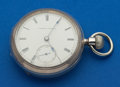 Timepieces:Pocket (pre 1900) , Waltham Coin Silver Model 57 - 18 Size Stem Wind Pocket Watch. ...