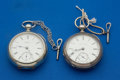 Timepieces:Pocket (pre 1900) , Two Illinois Key Wind Pocket Watches One Is Coin Silver. ...(Total: 2 Items)