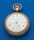 Timepieces:Pocket (post 1900), Columbus 18 Size 15 Jewel Pocket Watch. ...