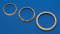 Timepieces:Other , Three Gold Wristwatch Bezels. ... (Total: 3 Items)