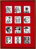 Latin American:Contemporary, CUBAN ARTISTS (Cuban, 20th Century). Portfolio of 12 PrintsIllustrating the Months of the Year. Lithographs. 27-1/2 x 1...