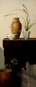 Post-War & Contemporary:Contemporary, HU PENGFEI (Chinese, 20th Century). Flower Series, 2006. Oilon canvas. 49 x 19-1/2 inches (124.5 x 49.5 cm). Signed and...