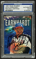 "Autographs:Sports Cards, 1997 Wheels ""Race Sharks"" Dale Earnhardt Signed Card - PSA/DNAAuthentic. ..."