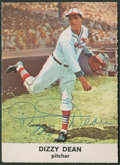 Autographs:Sports Cards, Signed 1961 Golden Press Dizzy Dean #8 Card. ...