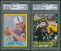 Autographs:Sports Cards, Football Hall of Famers Signed Cards Pair (2) - PSA/DNAEncapsulated. ...