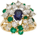 Estate Jewelry:Rings, Sapphire, Diamond, Emerald, Platinum, Gold Ring, Cartier, French....