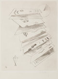 Prints:European Modern, WASSILY KANDINSKY (Russian, 1866-1944). Second etching for'Editions Cahiers d'Art', 1932. Drypoint. 11-3/4 x 9-1/4inch...