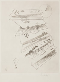WASSILY KANDINSKY (Russian, 1866-1944) Second etching for 'Editions Cahiers d'Art', 1932 Drypoint