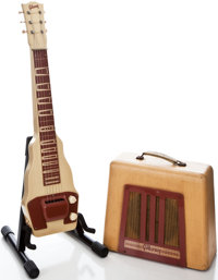 Early 1950s Gibson BR-9 Lap Steel Guitar and Amplifier Set