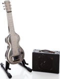 Musical Instruments:Lap Steel Guitars, 1937 Rickenbacker Silver Hawaiian Lap Guitar and Electro Amplifier,Serial # D896... (Total: 2 Items)