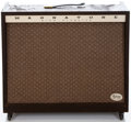 Musical Instruments:Amplifiers, PA, & Effects, 1960s Magnatone 460 Brown Guitar Amplifier, #00941....