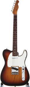 Musical Instruments:Electric Guitars, 1966 Fender Telecaster Custom Sunburst Solid Body Electric Guitar,#174563....