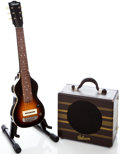 Musical Instruments:Lap Steel Guitars, 1941 Gibson EH-100 Sunburst Lap Steel Guitar and Amplifier Set, Serial # EGE 4246....
