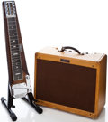 Musical Instruments:Lap Steel Guitars, 1953 Fender Deluxe 8 Lap Steel and 1956 Deluxe Amplifier.... (Total: 2 Items)