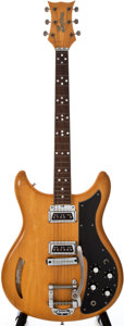 Musical Instruments:Electric Guitars, 1960 Kustom K-200A Natural Semi-Hollow Body Electric Guitar,#1500....