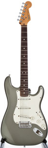Musical Instruments:Electric Guitars, 1984 Fender Stratocaster Pewter Solid Body Electric Guitar,#E401004....