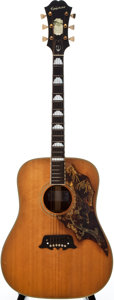 Musical Instruments:Acoustic Guitars, 1967 Epiphone FT 120 Excellente Acoustic Guitar, Serial # 892006...