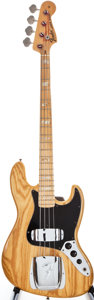Musical Instruments:Bass Guitars, 1975 Fender Jazz Bass Natural Electric Bass Guitar, #641457....