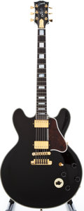 Musical Instruments:Electric Guitars, 1998 Gibson Lucille Black Semi-Hollow Body Electric Guitar,#90088479....