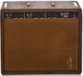 Musical Instruments:Amplifiers, PA, & Effects, 1961 Fender Deluxe Brown Guitar Amplifier, #D00606....