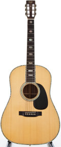 Musical Instruments:Acoustic Guitars, 1975 Martin D-45S Natural Acoustic Guitar, #356780....