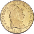 Early Half Eagles, 1806 $5 Pointed Top 6, 8x5 Stars Fine 12 NGC. Breen-6446, BD-1,R.4....