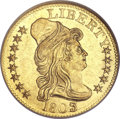 Early Half Eagles, 1803/2 $5 MS63 NGC. Breen-6441, BD-4, R.4....