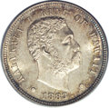 Coins of Hawaii: , 1883 10C Hawaii Ten Cents MS66 PCGS. Hawaii's second elected ruler,King David Kalakaua came to the throne in 1874 after th...