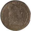 1795 DT$5 Draped Bust Half Eagle, Judd-23, Pollock-38, R.8, VF30 PCGS. Dies of the regular issue 1795 Small Eagle half e...