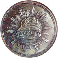 1836 PG$1 Gold Dollar, Judd-70, Pollock-73, Low R.7, PR66 Red and Brown NGC. The obverse shows a glory of rays surroundi...