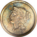 Patterns: , 1854 P1C One Cent, Judd-160, Pollock-187, R.4, PR66 Brown NGC. The obverse is similar to that used on regular issue 1854 ce...