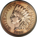 Patterns: , 1859 Indian Cent, Judd-227, R.6, MS63 PCGS. Regular dies obverse from 1859 paired with a different reverse that features an ...
