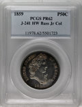 Patterns: , 1859 P50C Half Dollar, Judd-241, Pollock-297, R.4, PR62 PCGS. Ex: H.W. Bass, Jr. The Longacre Liberty Head design for the h...