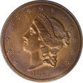 Patterns: , 1861 $20 Liberty Head Double Eagle, Judd-289, Pollock-347, Unique,PR63 Brown PCGS. The regular issue designs for the 1861 ...