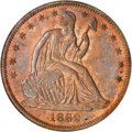 Patterns: , 1862 50C Half Dollar, Judd-294, Pollock-352, Low R.7, PR66 Red and Brown NGC. The obverse has the regular issue design for ...