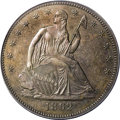 Patterns: , 1862 50C Half Dollar, Judd-296, Pollock-354, High R.6, PR64 Brown PCGS. The obverse is the regular issue design for the 186...