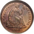 1864 H10C Half Dime, Judd-378, Pollock-446, Low R.7, PR67 Red and Brown NGC. Regular issue die trial. Struck in copper w...