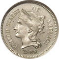 Patterns: , 1869 1C One Cent, Judd-666, Pollock-743, R.6, PR63 ANACS. The obverse exhibits a bust of Liberty facing left with the legen...