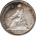 1870 5C Barber's Seated Liberty Dime, Judd-816, Pollock-905, Low R.7, PR63 PCGS. For the obverse, William Barber provide...