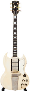 Musical Instruments:Electric Guitars, 1963 Gibson SG Custom White Solid Body Electric Guitar, #139429....
