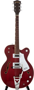 Musical Instruments:Electric Guitars, 1976 Gretsch 7655 Red Semi-Hollow Body Electric Guitar, #26381....