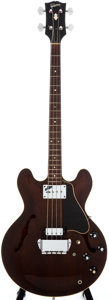 Musical Instruments:Electric Guitars, 1968 Gibson EB-2 Brown Electric Bass Guitar, #519039....