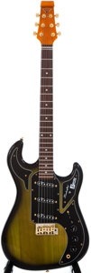 Musical Instruments:Electric Guitars, Recent Burns Club Series Green Sunburst Solid Body Electric Guitar,#2002216....