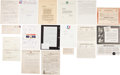 Baseball Collectibles:Others, Baseball Signed Letters Collection....